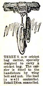 Terry cricket bag clip